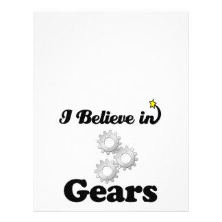 """i believe in gears 8.5"""" x 11"""" flyer"""