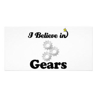 i believe in gears photo card