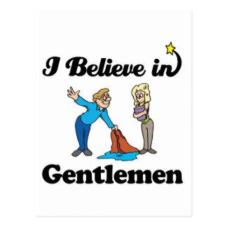 i believe in gentlemen postcards