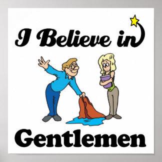 i believe in gentlemen print
