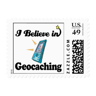 i believe in geocaching postage