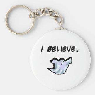 I Believe in Ghosts Basic Round Button Keychain