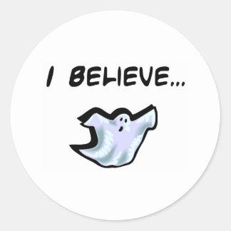 I Believe in Ghosts Round Stickers
