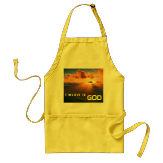 I Believe in God Adult Apron