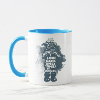 I Believe in God; Only I Spell It Science. Mug