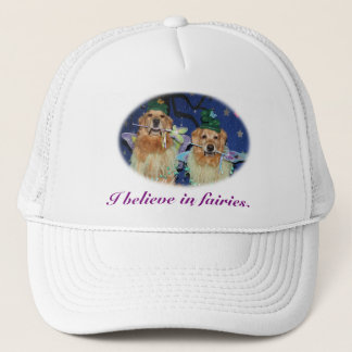 I believe in golden retriever fairies trucker hat
