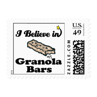 i believe in granola bars postage stamp