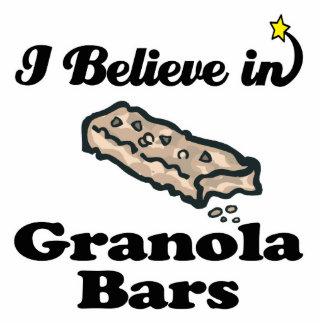 i believe in granola bars standing photo sculpture