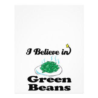 "i believe in green beans 8.5"" x 11"" flyer"