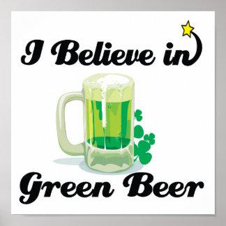 i believe in green beer poster