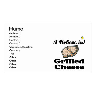 i believe in grilled cheese business card template