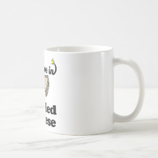 i believe in grilled cheese classic white coffee mug