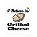 i believe in grilled cheese postcard