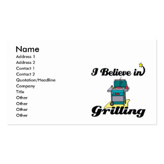 i believe in grilling business cards