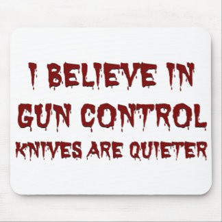 I believe in gun control mouse pad
