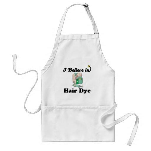 i believe in hair dye adult apron