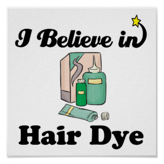 i believe in hair dye poster