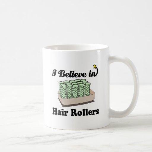 i believe in hair rollers classic white coffee mug