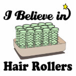 i believe in hair rollers photo sculptures