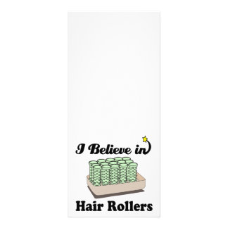 i believe in hair rollers rack cards