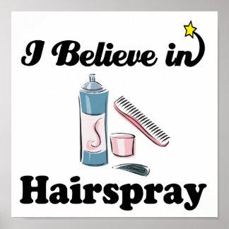 i believe in hairspray poster