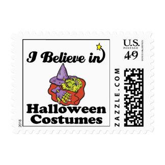i believe in halloween costumes postage