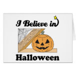 i believe in halloween greeting cards