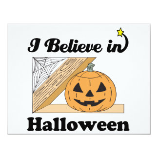 i believe in halloween personalized invitation