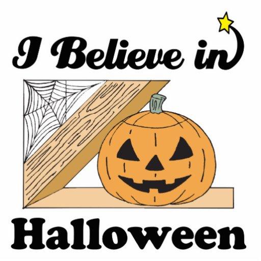 i believe in halloween photo sculptures