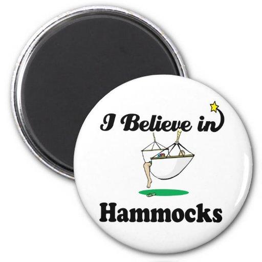 i believe in hammocks magnet