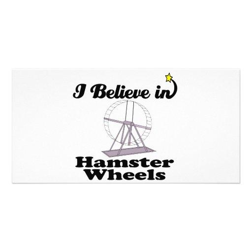 i believe in hamster wheels photo card