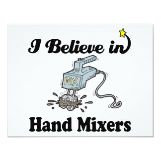 i believe in hand mixers personalized invitations