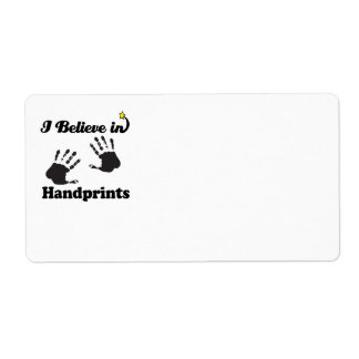 i believe in handprints custom shipping labels