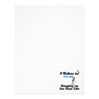 i believe in hanging on for dear life letterhead