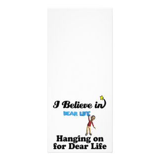 i believe in hanging on for dear life rack card template