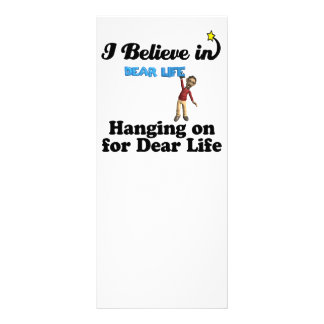 i believe in hanging on for dear life custom rack cards
