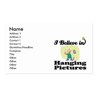 i believe in hanging pictures business cards