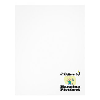 i believe in hanging pictures custom letterhead