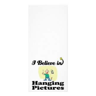 i believe in hanging pictures custom rack card