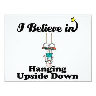 i believe in hanging upside down card