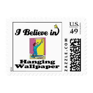 i believe in hanging wallpaper postage stamps