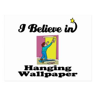 i believe in hanging wallpaper postcard