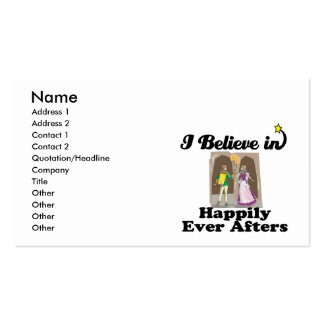 i believe in happily ever afters Double-Sided standard business cards (Pack of 100)