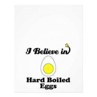 """i believe in hard boiled eggs 8.5"""" x 11"""" flyer"""