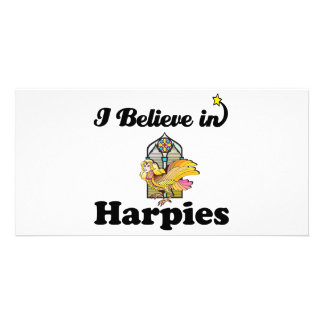 i believe in harpies photo card template