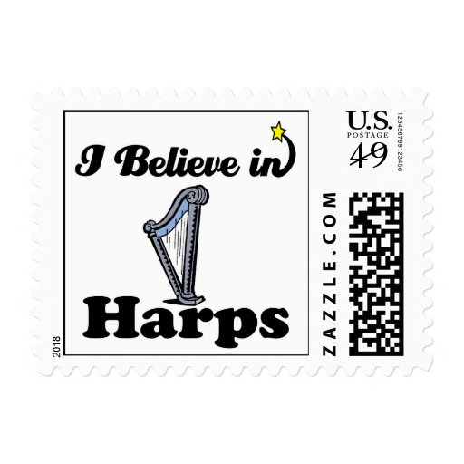 i believe in harps stamps