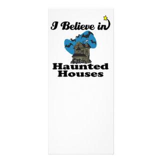 i believe in haunted houses custom rack cards