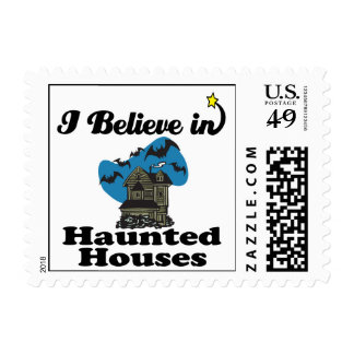 i believe in haunted houses stamp