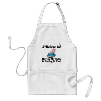 i believe in having my cake and eating it too apron