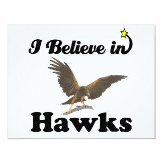 i believe in hawks 4.25x5.5 paper invitation card